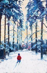 Snowy Lane by Timmy Mallett -  sized 8x12 inches. Available from Whitewall Galleries